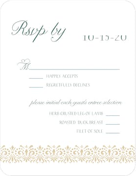 French Trellis Reply Card
