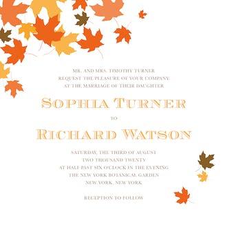 Autumnal Leaves Invitation