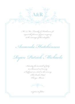 Vintage Laurel Invitation