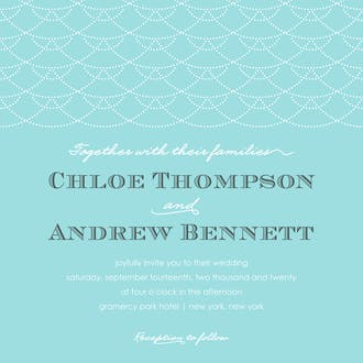 Stylish Waves Invitation