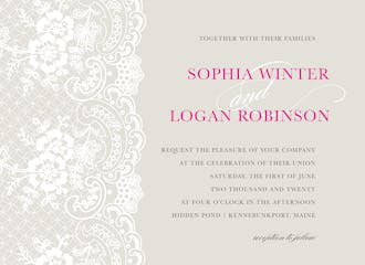 Forever Lace Invitation