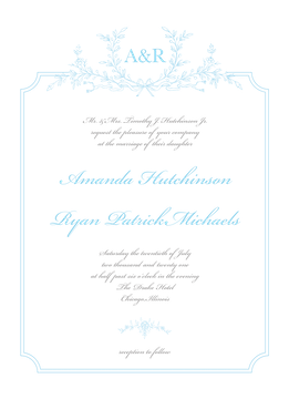 Vintage Laurel Invitation