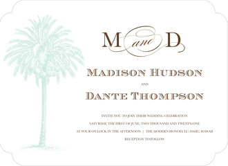 Vintage Palm Tree Invitation