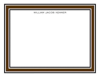 Chocolate & Black Borders Flat Note