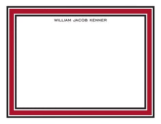 Red & Black Borders Flat Note