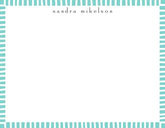 Striped Edge Dark Aqua Flat Note