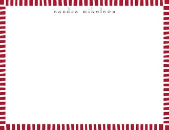 Striped Edge Red Flat Note