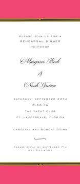 Vintage Border Coral Invitation