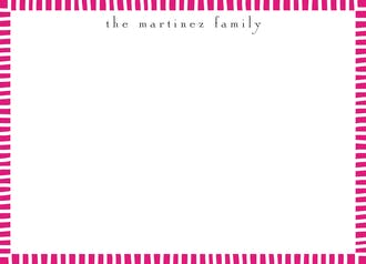 Striped Edge Hot Pink Flat Note