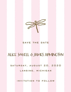 Classic Stripes Pink Invitation