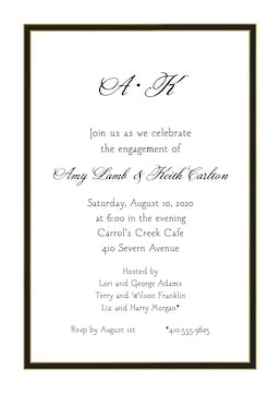 Black Border Invitation