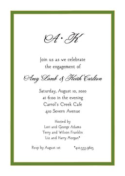 Green Border Invitation