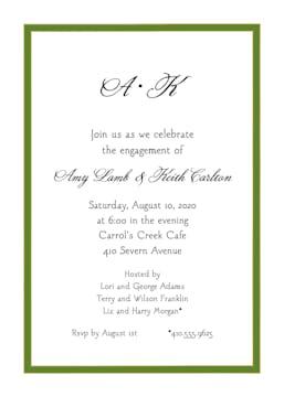 Green Border Invitation