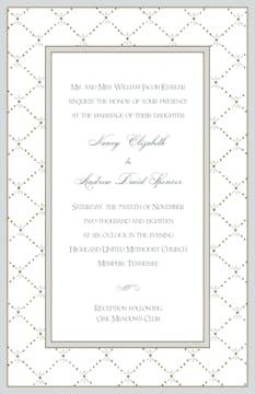 Fleur De Lis Silver Invitation