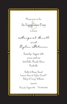Vintage Frame Black Invitation