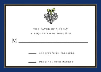 Navy Edge & Black Border Reply Card