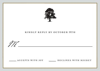 Classic Edge Silver & Gold Reply Card
