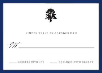 Classic Edge Navy Reply Card