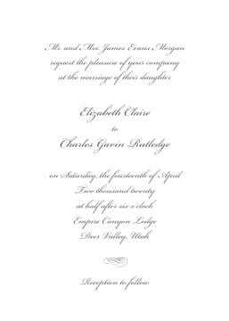 Classic White Invitation