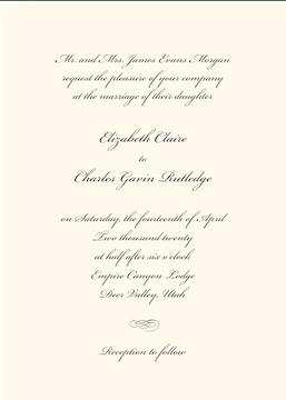 Classic Ecru Invitation