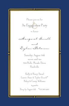 Vintage Frame Navy Invitation