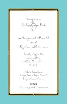 Vintage Frame Dark Aqua Invitation