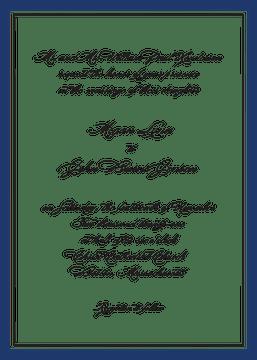 Timeless Border Navy & Black Invitation