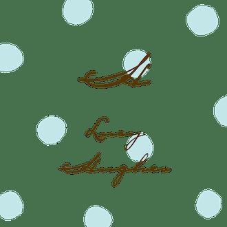 Big Dots Aqua Flat Enclosure Card