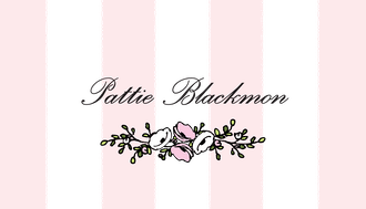 Classic Stripes Pink Flat Enclosure Card