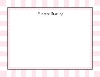 Fun Stripes Pink Flat Note