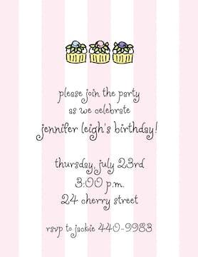 Classic Stripes Pink Invitation