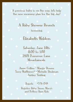 Little Dots On Blue Invitation