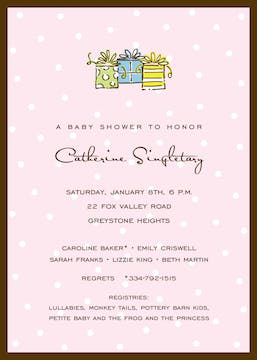 Little Dots On Pink Invitation