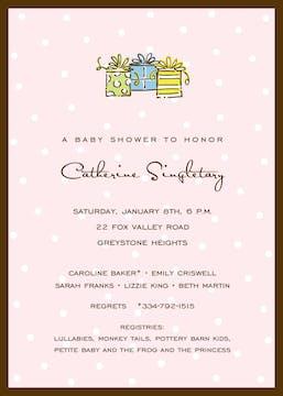 Little Dots On Pink Invitation
