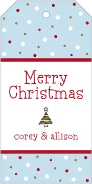 Holiday Snow Hanging Gift Tag-Back