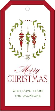 Ornaments Hanging Gift Tag