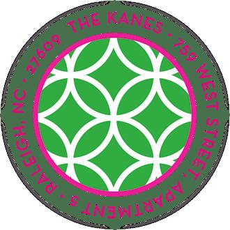 Lattice Posh Green Round Address Label
