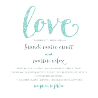 Love Sparkles Invitation