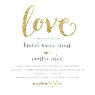 Love Sparkles Invitation