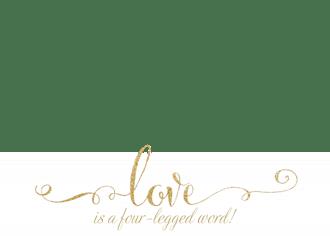 Four-Legged Word Photo Valentine