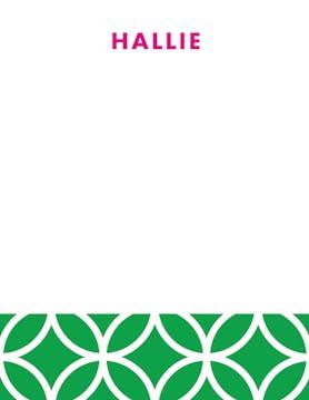 Lattice Posh Green Flat Note