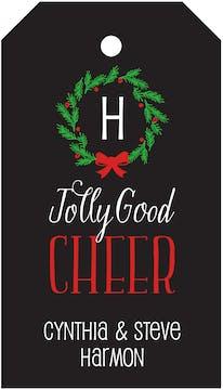 Jolly Good Cheer Hanging Gift Tag