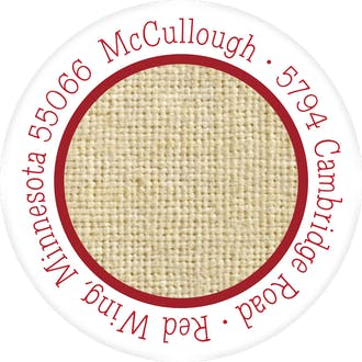Burlap Round Address Label