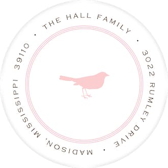 Pinstripe Ballet Round Address Label