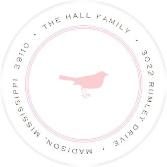 Pinstripe Ballet Round Address Label