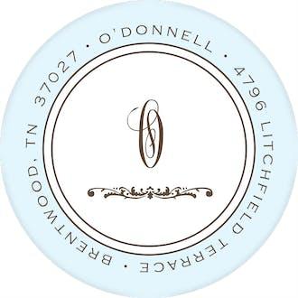 Lovely Baby Blue Round Address Sticker