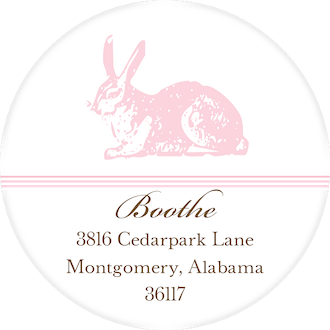 Spring Hare Ballet Round Address Label