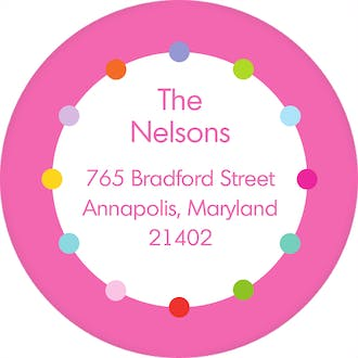 Sweet Girl! Round Address Label