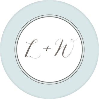 Lettered Love Round Address Label