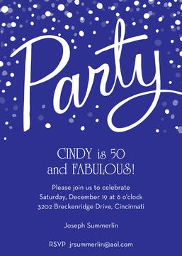 Party Purple Invitation
